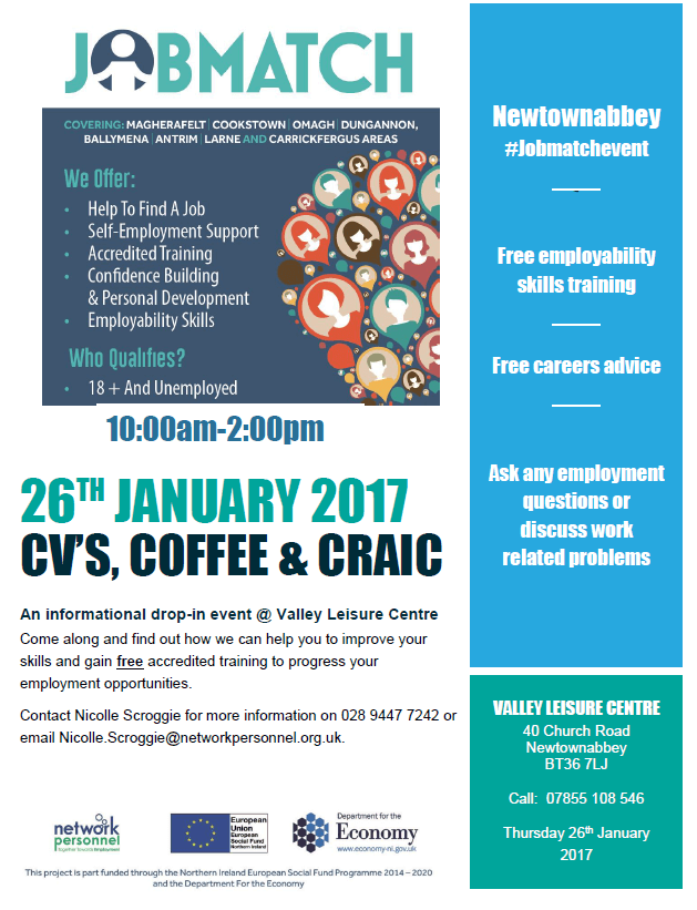 Free training and job support information event in