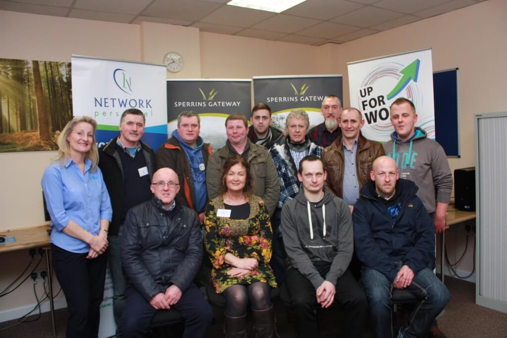 Environmental participants Back Row (L to R): Janice Bisp (Bisp Training), Shane Madden (Environmental Supervisor), Gerard Ferris, Gavin Marshal, Steven Hanson, Joe McLaughlin, Sean O'Neil, Elvis Stewart, Mitchell Smith Front Row (L to R): Leo Ludlow, Caroline Lennon (Horticulture Tutor), Christopher McKeown, Barry Dowie